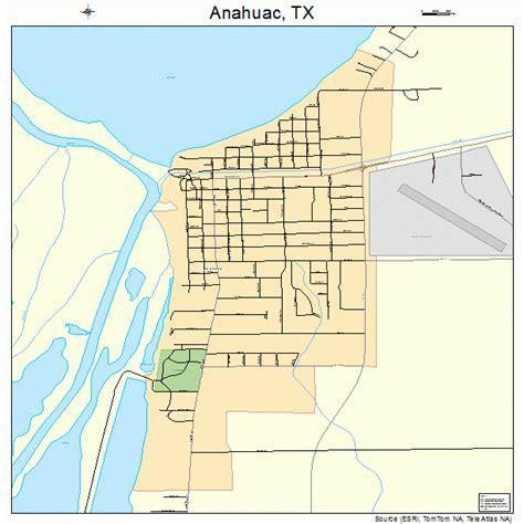 map of anahuac texas anahuac texas map 4803144