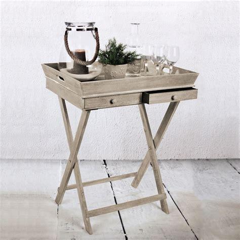 Gestell In Einem Laden by Tablett Tisch Mit 2 Schubladen Und Gestell Serviertisch