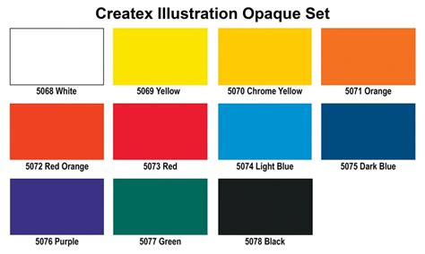 opaque color createx illustration opaque colours foxy studio