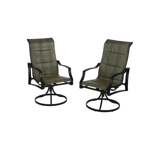 Patio Set With Swivel Chairs Patio Furniture With Swivel Chairs Darlee Monterey Sling Patio Swivel Rocker Dining Chair