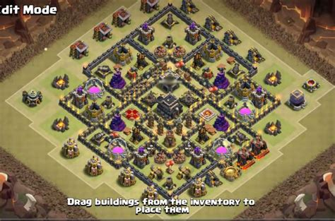 layout coc base war th9 12 best town hall th9 war farming hybrid and trophy