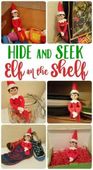 hide and seek with on the shelf ideas a s take