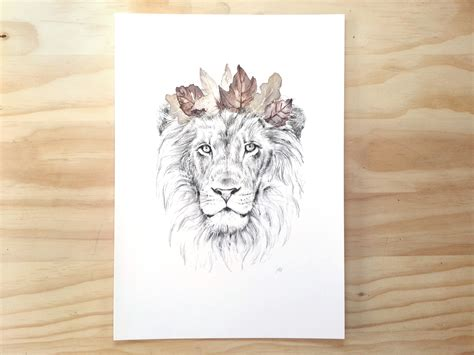 lion print king of the jungle lion print a3 contemporary art print