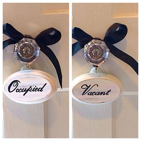 bathroom occupied signs vacant occupied double sided bathroom sign white