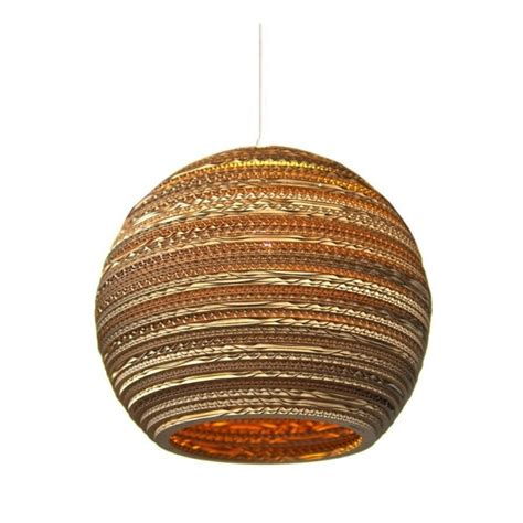 Recycled Pendant Lights Moon Recycled Cardboard Ceiling Pendant Light With Drop
