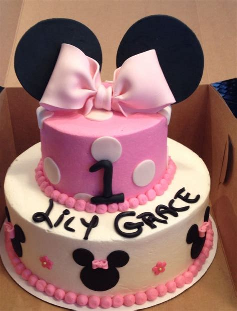 Mouse X7 Second minnie mouse birthday cake cakes by s