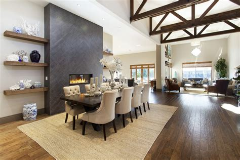 Dining Room Ideas With Fireplace by Tiled Fireplaces Living Room Contemporary With Beige