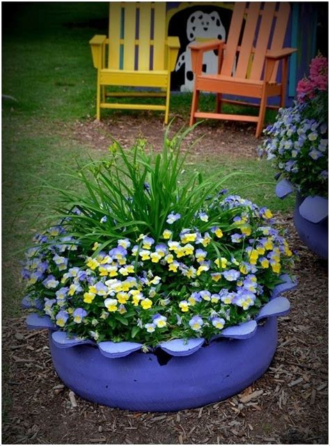 tire flower beds old tire flower bed recipes to try pinterest