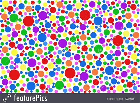 color dots colored dots background