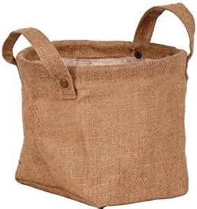 burlap planter bag with liner and