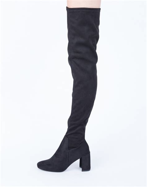 suede thigh high boots black suede boots brown