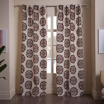 west elm medallion shower curtain claude medallion flocked curtain west elm