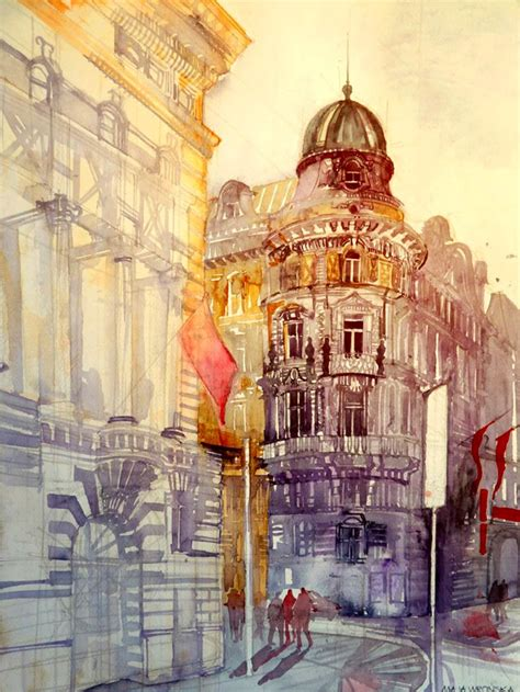 Architecture Drawing Artists Architectural Watercolors By Maja Wronska Colossal