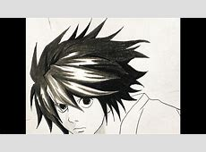 How to draw L (Death Note) - YouTube L Death Note Drawing