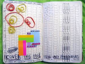 wreck this journal cover ideas page using only pictures