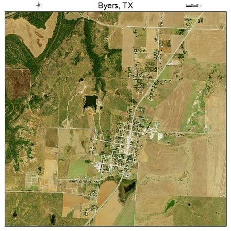 aerial map of texas aerial photography map of byers tx texas