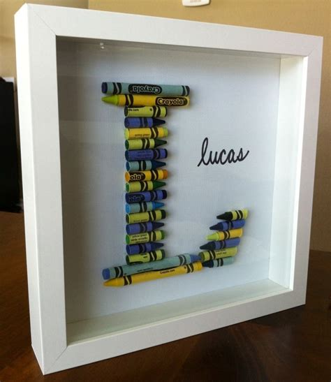 Diy Boy Room Decor by Great Diy Idea For Nursery Decor With Crayons In A Shadowbox Frame Someday