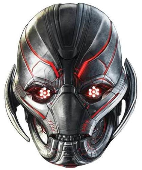 printable ultron mask ultron avengers age of ultron single card party face mask