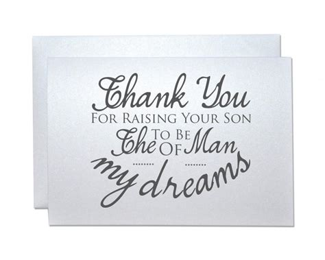 thank you letter to parents of the groom wedding thank you card from groom to new inlaws