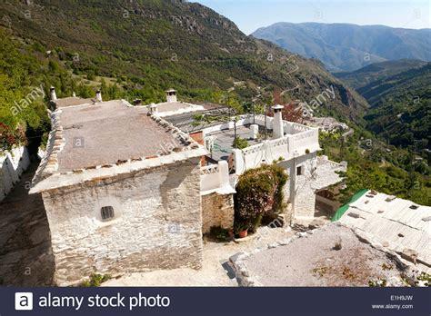 sierra nevada house houses in village of bubion high alpujarras sierra nevada spain stock photo