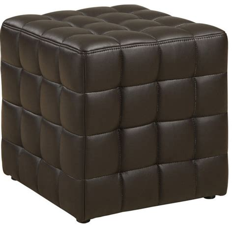 leather look ottoman ottoman brown leather look fabric footstools and