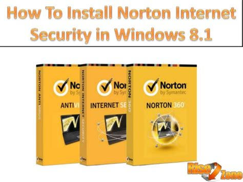 how to install norton security in windows 8 1