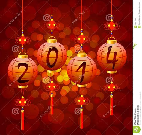 new year lanterns map new year lanterns royalty free stock photography