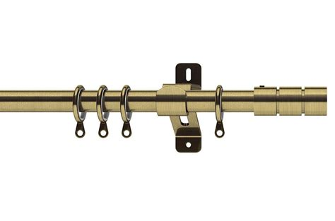 swish curtain poles swish 28mm elements brooklyn antique brass metal curtain pole