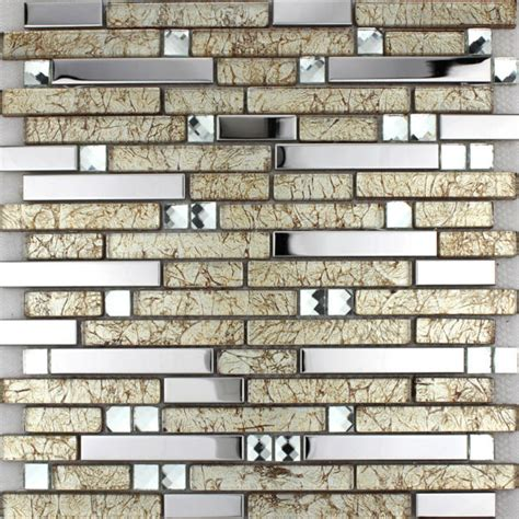 Kitchen Backsplash Sheets Glass Tiles Sheets Mosaic Wall Stickers Kitchen Backsplash Tile Metal Coating