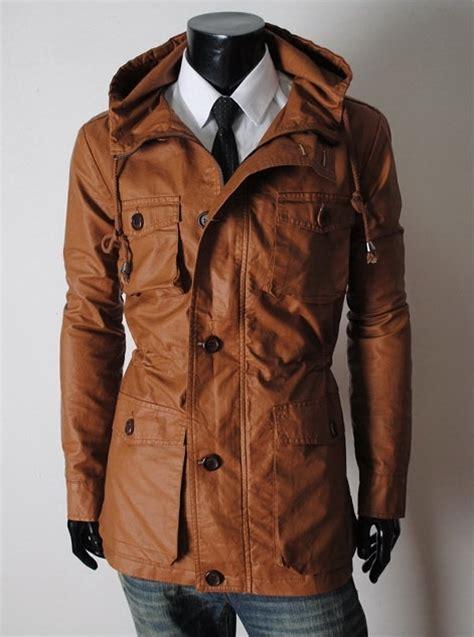 Handmade Leather Jacket - handmade custom new slim fit hooded leather