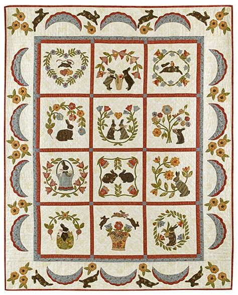 Bunny Quilt Patterns Free by Baltimore Bunnies Quilt Pattern Set By Bunny Hill Designs