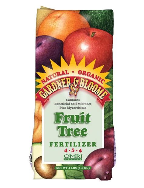 fertilizer for fruit trees gardner bloome 8 4 2 organic citrus fruit tree