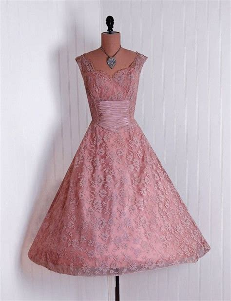 Pretty In Pink Retro Silk Dress by 1950 S Vintage Rudolf Designer Couture Pink