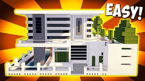how do you make a house minecraft big modern house mansion tutorial how to