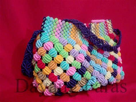 tutorial tali tas tali kur tas tali kur warna warni my first macrame bag buatanku