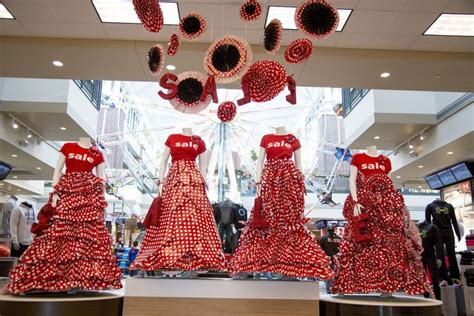 christmas decoration visual paper dress sale display visual merchandising store decor visual