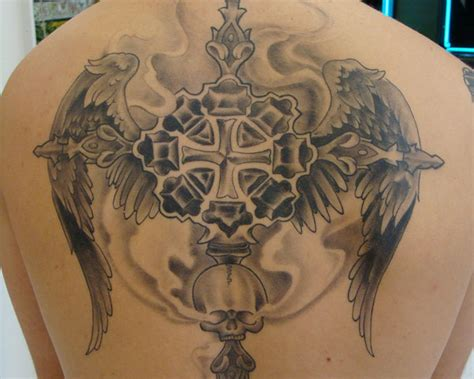 angel wings and cross tattoo cross tattoos page 37