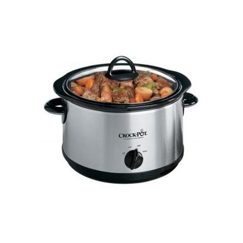 crock pot stainless 5 qt cooker walmart