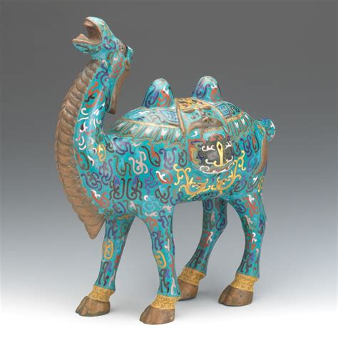Antiques From China Auction by Cloisonne Camel 03 29 14 Sold 264 5