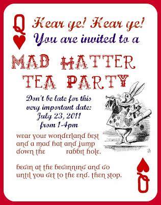 mad hatter invitation template tea quotes quotesgram