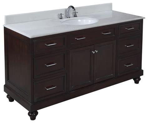 amelia 60 quot single sink bath vanity white chocolate