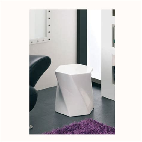 White Gloss Side Table Geno End Table In Walnut With White Gloss Buy L And End Tables Furnitureinfashion Uk