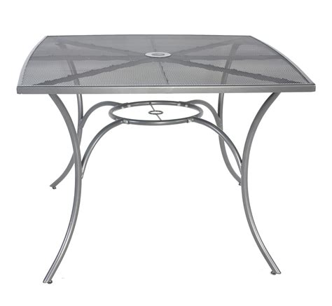 outdoor mesh furniture charles bentley outdoor metal mesh 5 table and