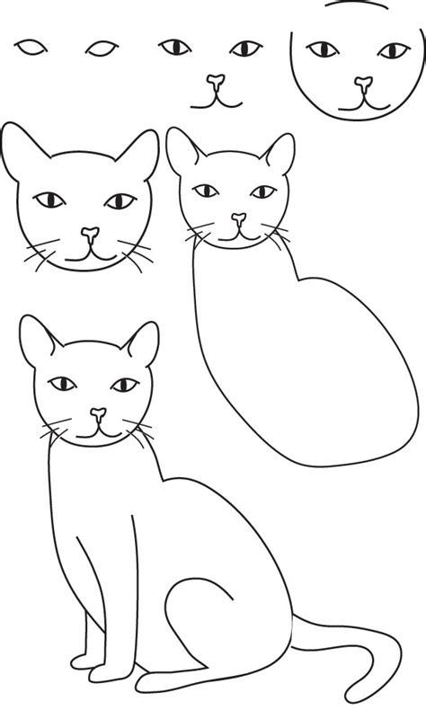 cat simple simple cat drawing exles anyone can try photofun4ucom
