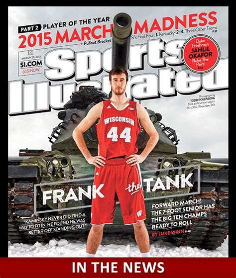Tank Cover March frank kaminsky sports illustrated and magazine covers on