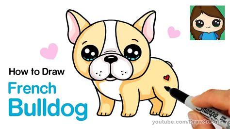 draw  french bulldog easy cartoon puppy youtube