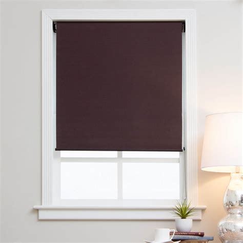 Cloth Blinds Arlo Blinds Mocha Brown Blackout Fabric Shades Ebay