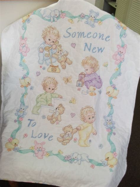 Cross Stitch Quilts For Babies by Cross Stitch Baby Quilt Crafts Baby Cross Stitch