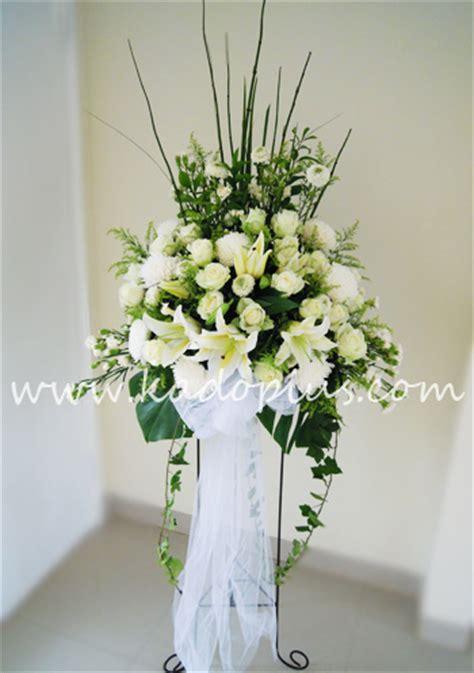 Bunga White florist jakarta kadoplus white standing flower