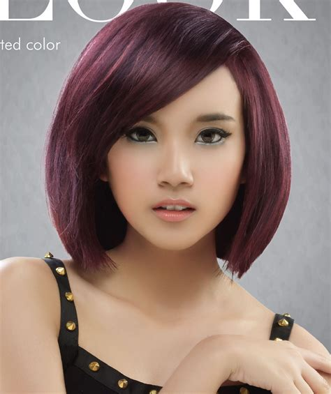 rambut pendek wanita warna coklat terbaru